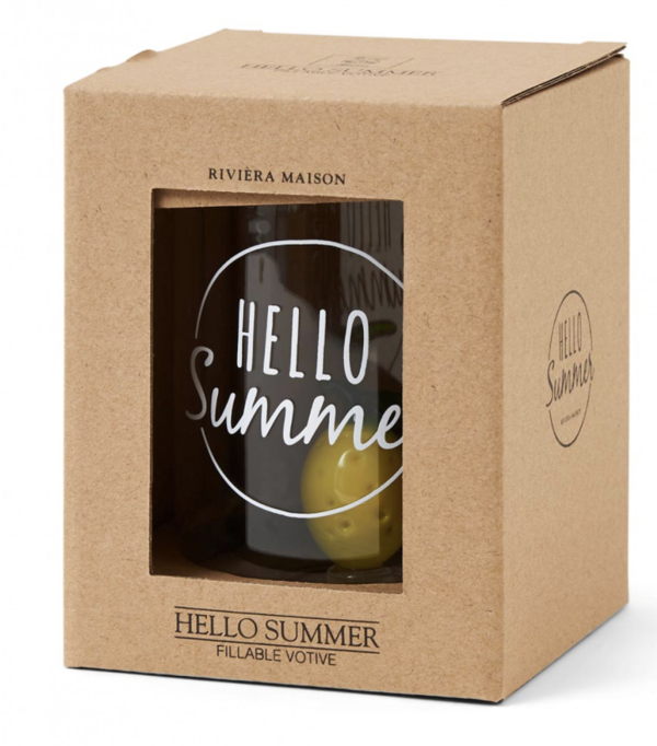 Hello Summer Fillable Votive von Rivièra Maison