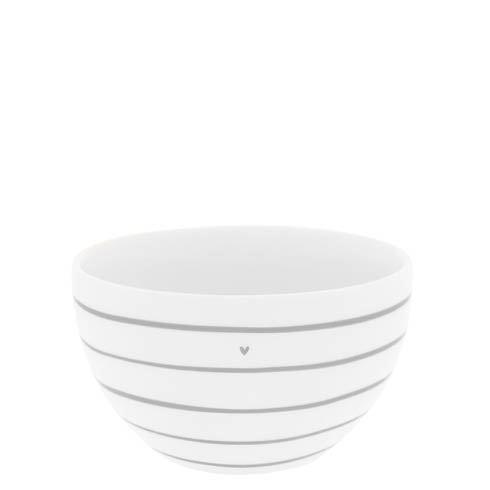 Bowl White/stripes & heart in grey von Bastion Collections
