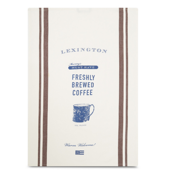 Printed Cotton Twill Coffee Kitchen Towel von Lexington