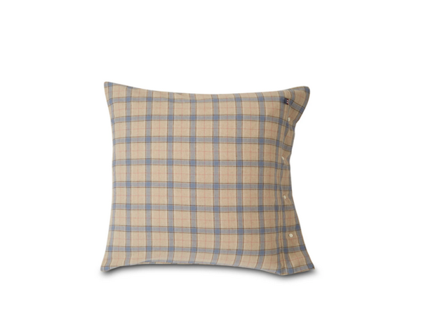 Checked Cotton Flannel Pillowcase (40x40) von Lexington
