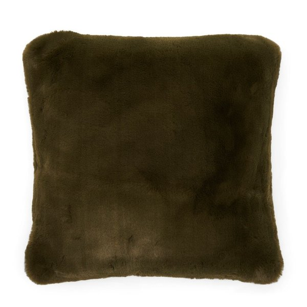 Faux Fur Pillow Cover Green 50x50 von Rivièra Maison