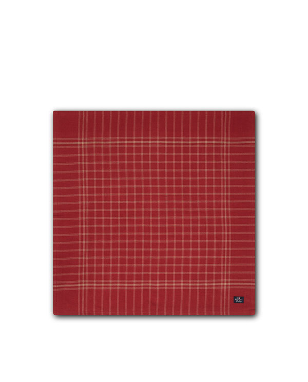 Checked Cotton Napkin, Beige/Red von Lexington