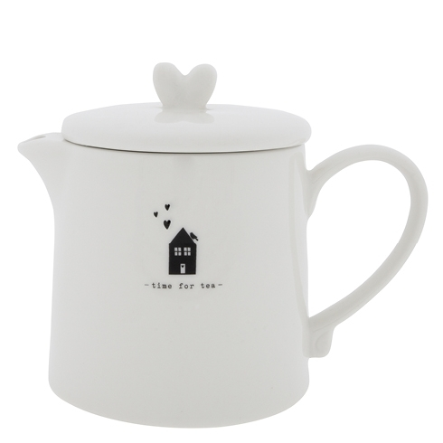 "Teekanne ""Teapot White Time for Tea BL"" von Bastion Collections"