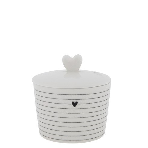 "Zuckerdose ""Sugar Bowl Stripes black"" von Bastion Collections"