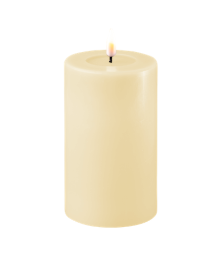 Creme LED-Stumpenkerze 7,5cm x 12,5 cm von Deluxe Homeart