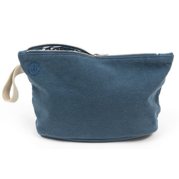 Kosmetiktasche Cotton Kit storm/riviera blue von TRAVAUX EN COURS
